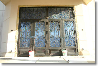 iron doors for hindu community center mahwah NJ