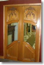 carved french doors